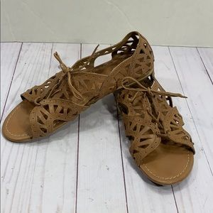 "Crown Vintage ""Walla"" leather gladiator sandals"